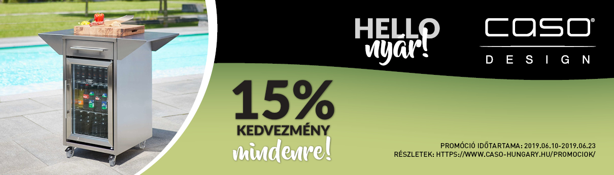 Hello nyár - 15% kedvezmény